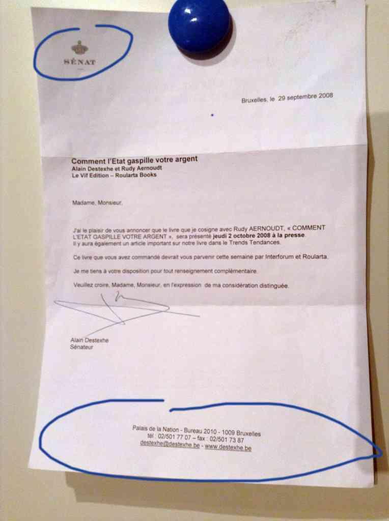 Célèbre Alain Destexhe, l'arrosé du matin. : Un blog de Sel IU18